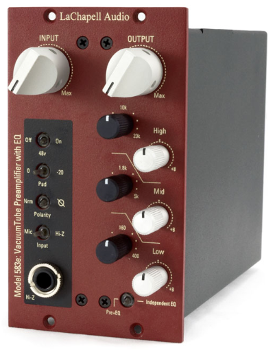 583e 500 Series Tube Mic Preamp with EQ
